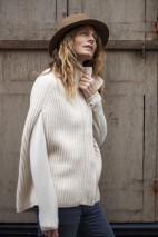Cape cachemire gris chiné - 50% cachemire - 50% laine - 6 fils