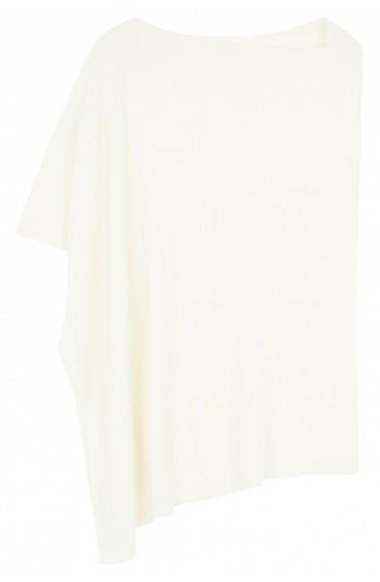 Poncho cachemire blanc - 100% cachemire - 2 fils