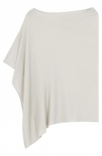 Poncho cachemire gris perle - cachemire & soie - 35% cachemire - 35% soie - 30% laine