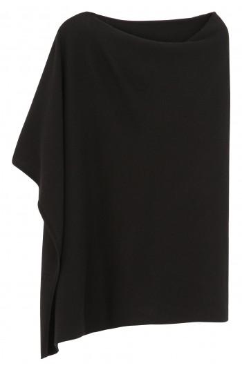 Poncho cachemire noir - 100% cachemire - 2 fils