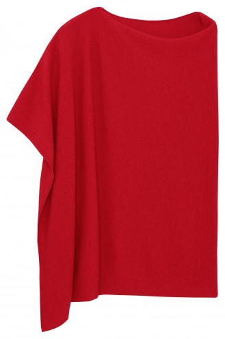 Poncho cachemire red hot - 100% cachemire - 2 fils