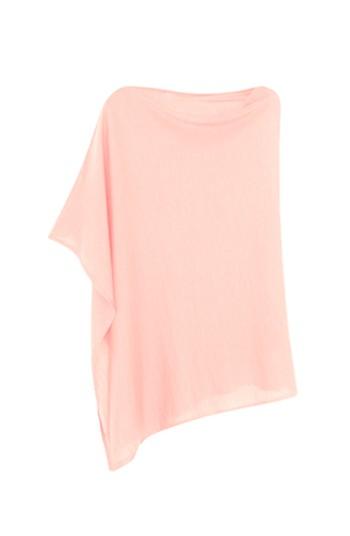 Poncho cachemire rose pâle - cachemire & soie - 35% cachemire - 35% soie - 30% laine