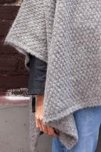 Poncho alpaga gris - alpaga & laine