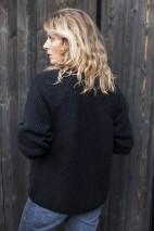 Pull alpaga noir -100% baby alpaga