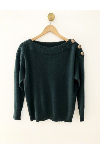 Pull col bateau sapin - 100% cachemire
