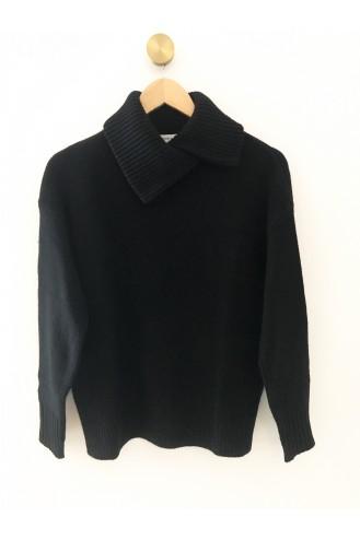 Pull col châle noir - 100% cachemire
