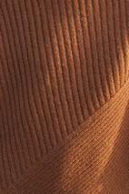 Poncho alpaga chamois -100% baby alpaga
