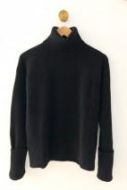 Pull cachemire noir - 100% cachemire - 4 fils