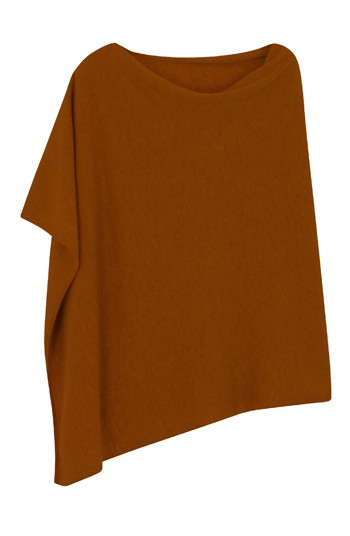 Poncho cachemire cuir - 100% cachemire - 2 fils