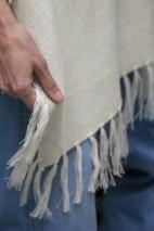 Poncho alpaga craie - 70% baby alpaga, 30% soie