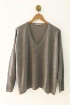 Pull cachemire gris clair - 100% cachemire - 2 fils