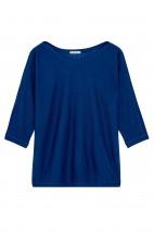 Pull cachemire bleu roi - cachemire & soie - 35% cachemire - 35% soie - 30% laine