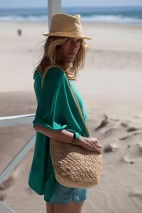 Poncho cachemire sable - cachemire & soie - 35% cachemire - 35% soie - 30% laine