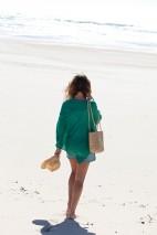Poncho cachemire corail - cachemire & soie - 35% cachemire - 35% soie - 30% laine