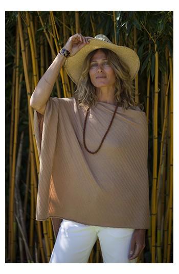 Poncho ajourée lin - coton & modal