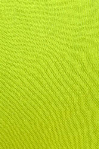 Poncho cachemire 6 ans - jaune fluo - 100% cachemire - 2 fils