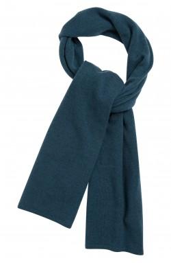 Echarpe cachemire bleu pétrole - 100% cachemire - maille déjaugée