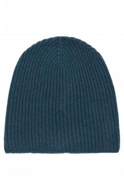 Bonnet cachemire bleu pétrole - 100% cachemire - 10 fils