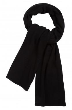 Echarpe cachemire noir - 100% cachemire - maille déjaugée