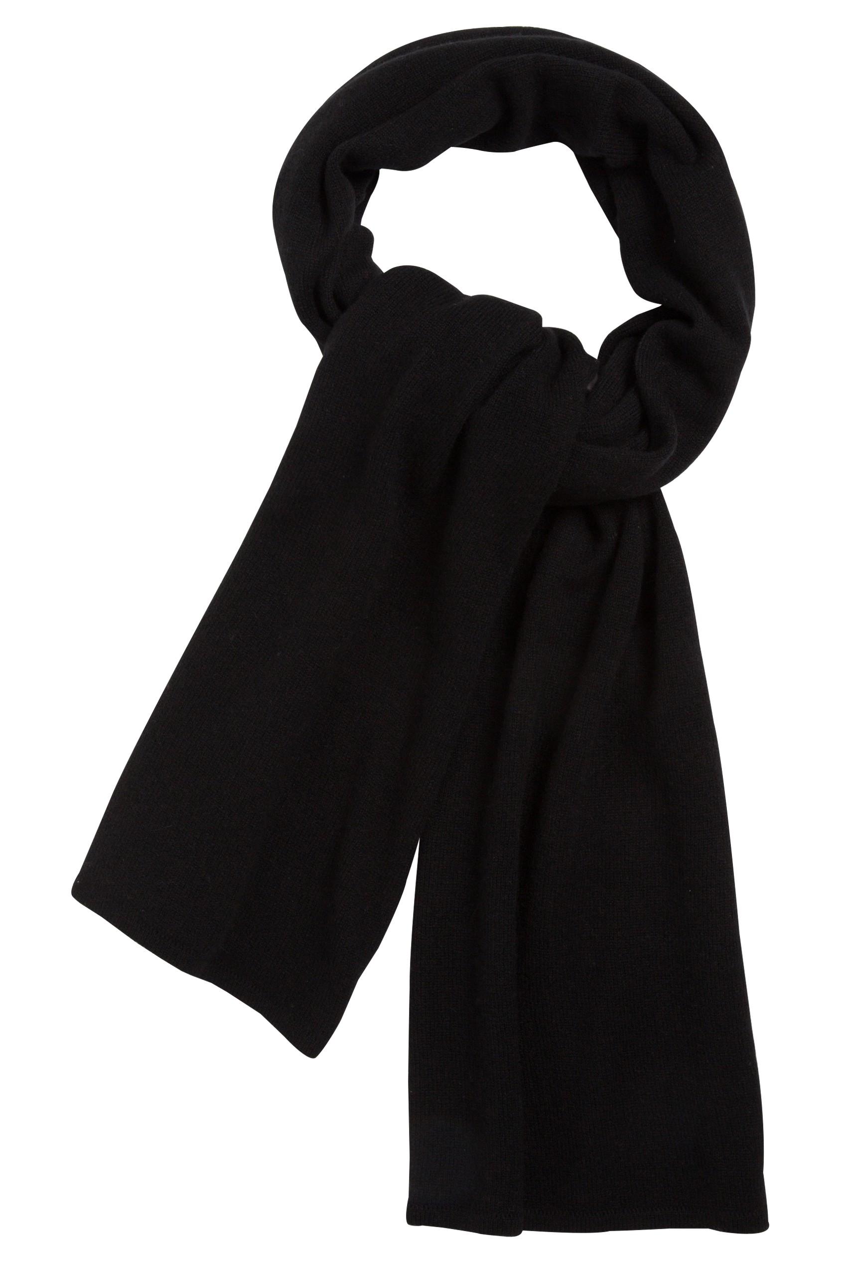 a466392914 Echarpe cachemire noir - 100% cachemire - maille déjaugée