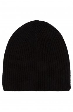Bonnet cachemire noir - 100% cachemire - 10 fils