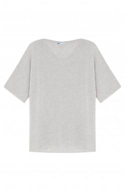 Pull cachemire gris chiné clair - 100% cachemire - 2 fils