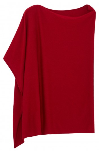 Poncho cachemire rubis - 100% cachemire - 2 fils