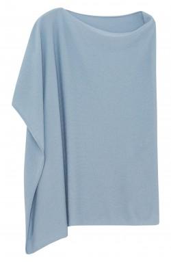 Poncho cachemire gris bleu -  cachemire - 2 fils