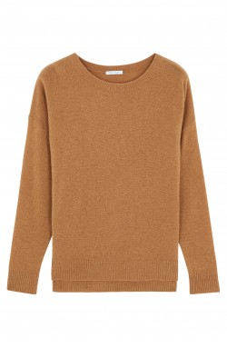 Pull Col Rond Cachemire Daim - 100% cachemire - 2 fils