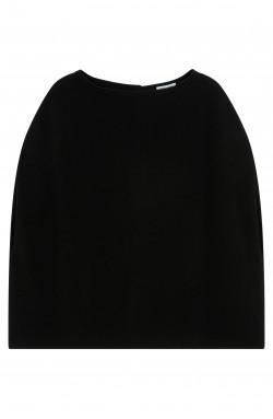 Cape cachemire noir - 100% cachemire - 2 fils