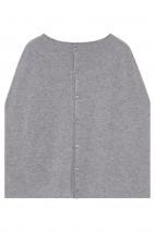 Cape cachemire gris chiné - 100% cachemire - 2 fils