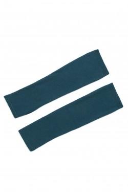 Mitaines cachemire bleu pétrole - 100% cachemire - 2 fils