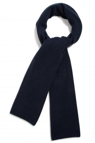 Echarpe cachemire bleu nuit - 100% cachemire - maille déjaugée