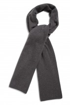 Echarpe cachemire gris orage - 100% cachemire - maille déjaugée