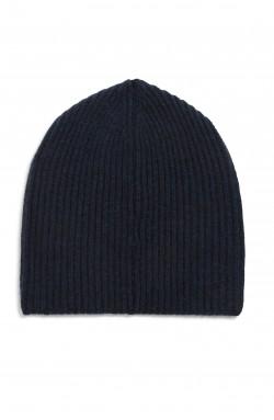 Bonnet cachemire bleu nuit - 100% cachemire - 10 fils