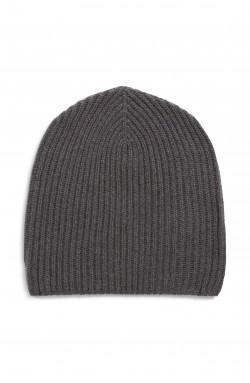 Bonnet cachemire gris orage - 100% cachemire - 10 fils
