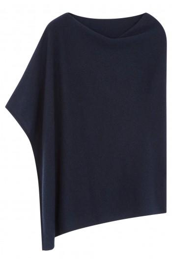 Poncho cachemire bleu nuit - 100% cachemire - 2 fils