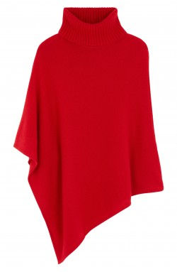 Poncho cachemire red hot - 100% cachemire - 4 fils