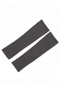 Mitaines cachemire gris orage - 100% cachemire - 2 fils