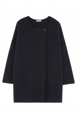 Manteau cachemire bleu marine - 100% cachemire - 4 fils