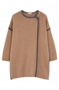 Manteau cachemire marron glacé - 100% cachemire - 4 fils