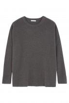 Pull cachemire gris orage - 100% cachemire - 4 fils