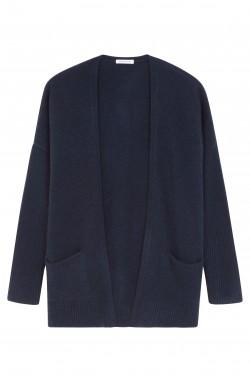 Gilet cachemire bleu nuit - 100% cachemire - 4 fils