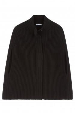 Cape cachemire noir - 50% cachemire - 50% laine - 6 fils