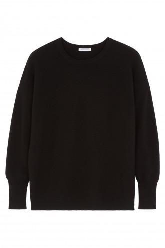 Pull cachemire noir - 100% cachemire - 2 fils