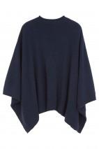 Poncho cachemire bleu nuit - 100% cachemire - 4 fils