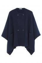 Cape cachemire bleu nuit - 50% cachemire - 50% laine - 6 fils
