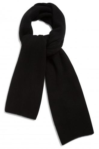 Echarpe cachemire noir -100% cachemire - 2 fis