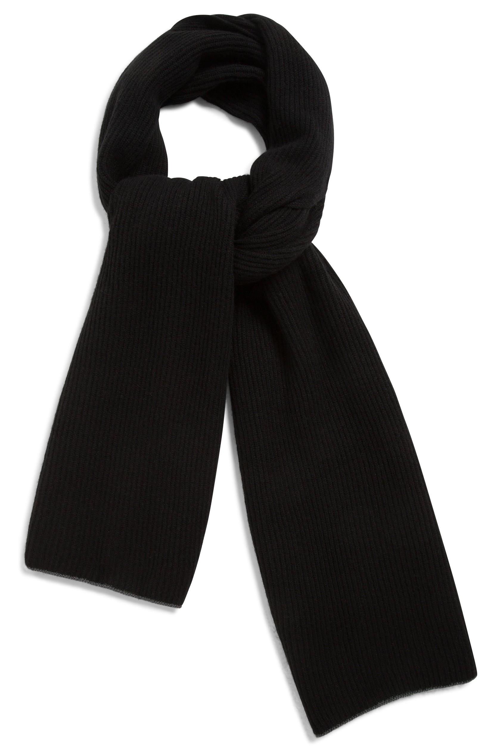b967e38984 Echarpe cachemire noir -100% cachemire - 2 fis