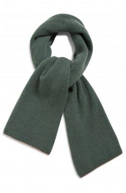 Echarpe cachemire vert russe -100% cachemire - 2 fis